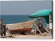 Skiff And Moor Cabo De Gata Acrylic Print