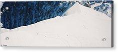 Skiing In Chamonix Acrylic Print