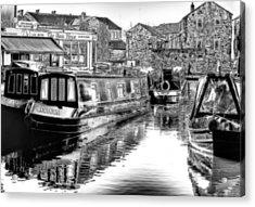 Skipton Canal Basin Acrylic Print by Trevor Kersley