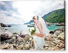 Skopelos Mamma Mia Wedding Acrylic Print by Nick Karvounis