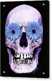 Skull Art - Day Of The Dead 3 Acrylic Print by Sharon Cummings