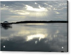 Acrylic Print featuring the photograph Skull Creek  by Margaret Palmer
