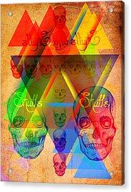 Skulls And Skulls Acrylic Print by Kenal Louis