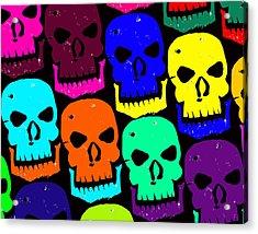 Skulls Acrylic Print by Jame Hayes