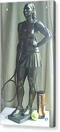Skupture Tennis Player Acrylic Print by Zlatan Stoilov