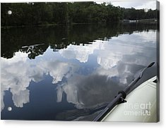 Sky And Clouds Reflected In River Acrylic Print by Roberto Westbrook