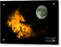 Sky And Moon Acrylic Print by Odon Czintos