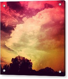 #sky #cary #colourful #clouds ☁ Acrylic Print