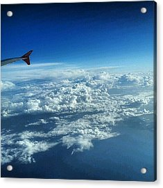 #sky #cloudy On The Way To #jordan Acrylic Print
