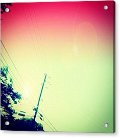 #sky #edit #cary #prettycolors #pink Acrylic Print
