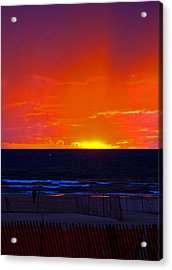 Acrylic Print featuring the photograph Sky Fire by Randall  Cogle