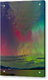Sky Full Of North Light Acrylic Print by Frank Olsen