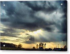 Sky In Turmoil Acrylic Print by Tom Schmidt