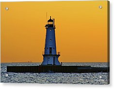 Sky Of Gold Acrylic Print by Burland McCormick