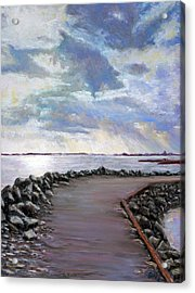 Sky Shore A Acrylic Print by Peter Jackson