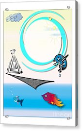 Sky Worshippers Acrylic Print by Pm Ernst