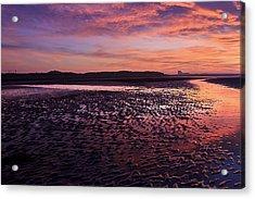 Skyfire Beach Sunrise Acrylic Print by Fiona Messenger