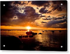 Skyfire Acrylic Print by Jason Naudi Photography