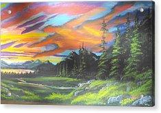 Skyfire Acrylic Print by W Wayne Mosbarger