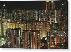 Skyline At Night Acrylic Print by Ryan Cheng Photography