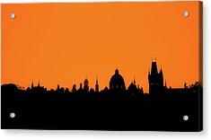 Skyline Over Charles Bridge, Prague Acrylic Print by Alexandre Fundone