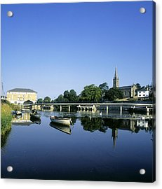 Skyline Over The River Garavogue, Sligo Acrylic Print by The Irish Image Collection