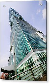 Skyscraper, Taipei 101 Building Acrylic Print by Jeremy Woodhouse