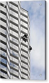 Skyscraper Window-washers - Take A Walk In The Clouds Acrylic Print