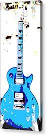 Slash's Guitar Acrylic Print by David Alvarez