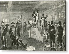 Slave Auction, 1861 Acrylic Print by Photo Researchers
