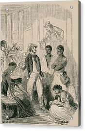 Slave Market In The United States Acrylic Print by Everett