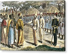 Slave Trader Surrenders To Baker, 1869 Acrylic Print by Photo Researchers