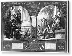 Slavery, Two Illustrations Showing Acrylic Print by Everett