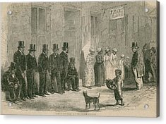 Slaves For Sale In New Orleans In April Acrylic Print by Everett