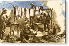 Slaves In Union Camp Acrylic Print by Photo Researchers
