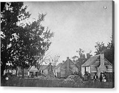Slaves Sitting Near Their Cabins Acrylic Print by Everett