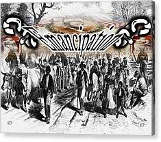 Slaves Traveling To Freedom Land Acrylic Print by Belinda Threeths