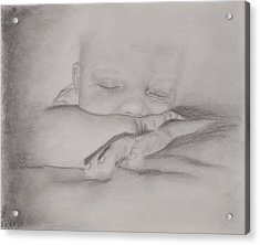 Sleeping Baby Acrylic Print by Michelle Wolff