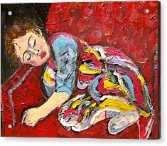 Sleeping Beauty Serenity Acrylic Print by Kathryn Barry
