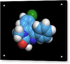 Sleeping Pill Molecule Acrylic Print by Dr Tim Evans
