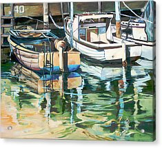 Acrylic Print featuring the painting Sleepy Harbor 3 by Rae Andrews