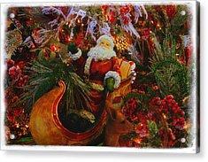 Sleigh Ride Acrylic Print by Toni Hopper