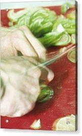 Sliced Limes Acrylic Print by Cristina Pedrazzini
