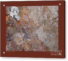 Slushy Autumn Leaves-i Acrylic Print by Patricia Overmoyer