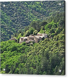 Small House On Mountain Acrylic Print by Filou-France