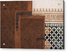 Small Slide Bolt Alhambra Acrylic Print