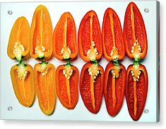 Small Sweet Peppers Acrylic Print by Image by Catherine MacBride