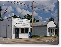 Small Town Post Office Acrylic Print by Will & Deni McIntyre