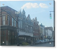Acrylic Print featuring the photograph Small Town Proper by Tina M Wenger