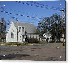 Small Town Religion Acrylic Print by Steve Sperry